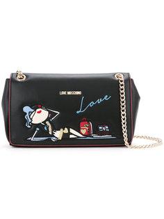сумка на плечо с вышивкой doll  Love Moschino