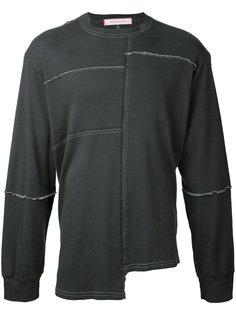 футболка лоскутного кроя  с длинными рукавами Eckhaus Latta