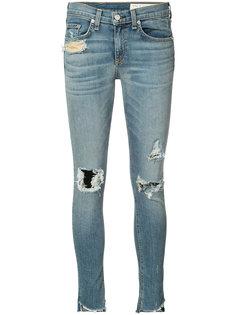 джинсы кроя скинни с потертой отделкой Rag & Bone /Jean