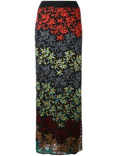 длинная юбка с цветочным узором Missoni