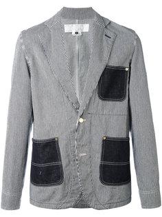полосатый джинсовый пиджак Ganryu Comme Des Garcons