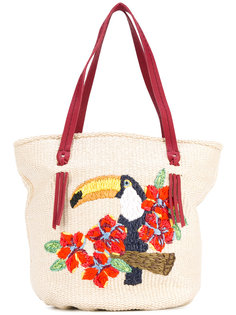сумка-тоут с пеликаном Zanellato