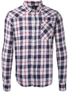 рубашка в клетку с застежкой на кнопки Factotum