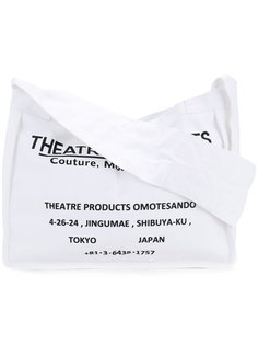 logo print shoulder bag Theatre Products