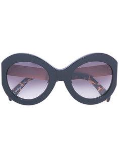 солнцезащитные очки в объемной оправе Zanzan