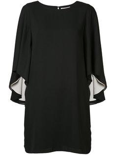 мини-платье с рукавами с рюшами Halston Heritage