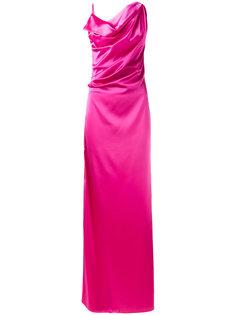 вечернее платье с драпировками Lanvin