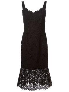 платье с кружевной отделкой Dolce & Gabbana