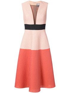 платье с прозрачной панелью Lela Rose