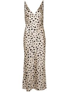 длинное платье с пятнистым принтом Attico
