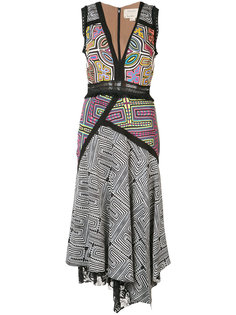 асимметричное платье без рукавов Nicole Miller