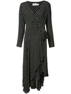 платье в горох с запахом Zimmermann