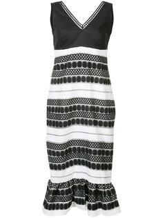 платье без рукавов с вышивкой Nicole Miller