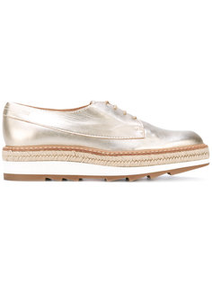 ботинки-эспадрильи со шнуровкой на платформе Castañer