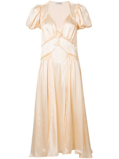 v-neck flared dress Attico