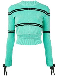 вязаный свитер с прорезью Fendi