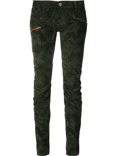 джинсы с камуфляжным узором и молнией Etienne Marcel