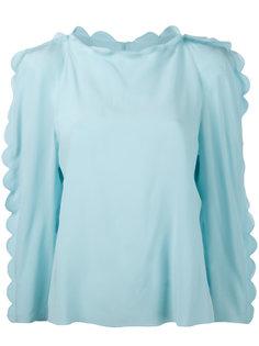 блузка с отделкой фестонами Fendi