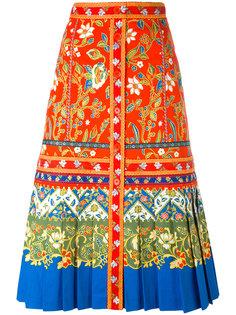 юбка А-образного силуэта с узорами Tory Burch