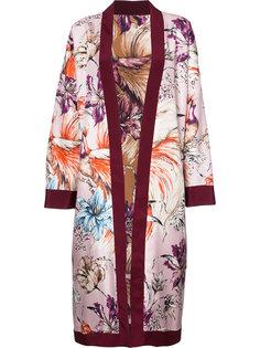 жакет-кимоно с цветочным узором Fausto Puglisi