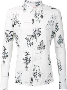 рубашка с принтом растений Osklen