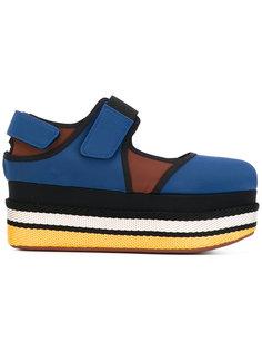 туфли Мэри Джейн на плоской платформе Marni