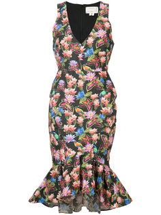 платье без рукавов с цветочным принтом  Nicole Miller