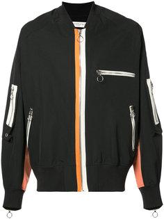 куртка-бомбер с молниями Mr. Completely