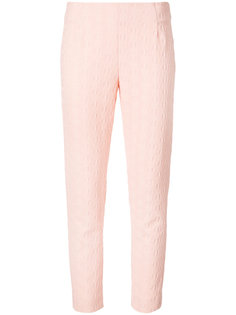 текстурные узкие брюки Lela Rose