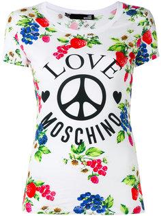 футболка с рисунком Love Moschino