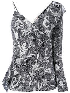 асимметричная блузка с оборкой спереди Diane Von Furstenberg