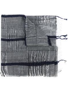шарф в полоску с бахромой Yohji Yamamoto