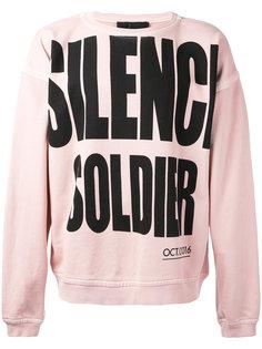 Silence Soldier sweatshirt Haider Ackermann