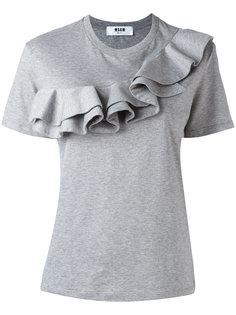 футболка с оборками MSGM