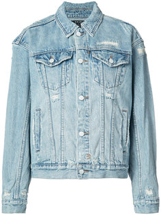 distressed denim jacket  Ksubi