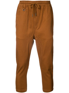 cropped drawstring trousers Publish