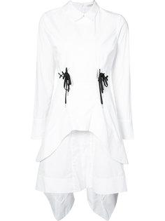 поплиновое платье со шнурками Jonathan Simkhai