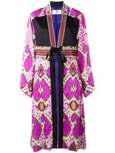 пальто-кимоно с абстрактным принтом Etro