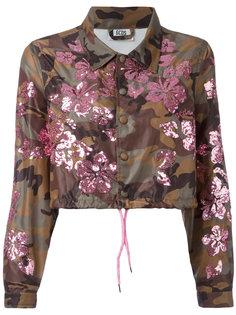 укороченная камуфляжная куртка с отделкой пайетками  Gcds