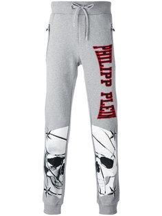 спортивные брюки с принтом черепов Philipp Plein