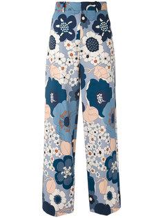 широкие брюки с цветочным принтом Chloé