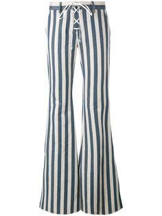 полосатые расклешенные брюки Roberto Cavalli