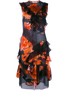 платье с рюшами и цветочным принтом Givenchy