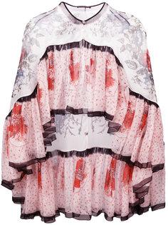 блузка с узором Alexander McQueen