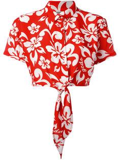 укороченная рубашка с цветочным принтом Gcds