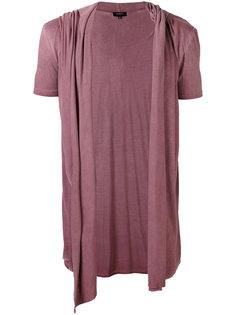 футболка с драпированными вставками и капюшоном Unconditional