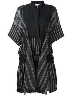 платье-рубашка в полоску  Sacai