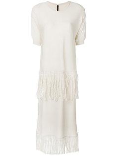 вязаное платье с бахромой Sara Lanzi