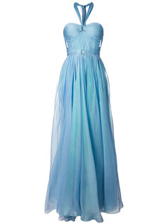 длинное платье без бретелей с вырезом-халтер Maria Lucia Hohan