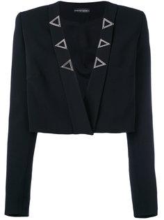 укороченный пиджак без застежки  David Koma